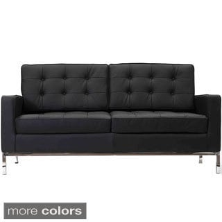 Genuine Leather Modern Loft Loveseat
