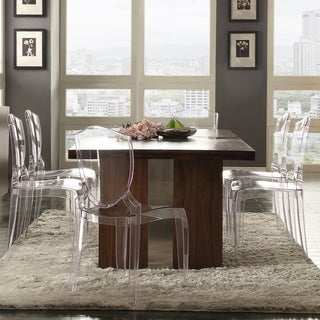 INSPIRE Q Malden Chrome Inset Dining Table