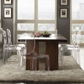 Inspire Q Vinemont Industrial Modern Oak Metal-plated Rectangular Dining Table