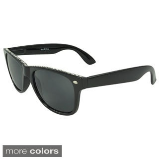 Epic Eyewear Women's 'Evanwood' Retro Rhinestone Sunglasses