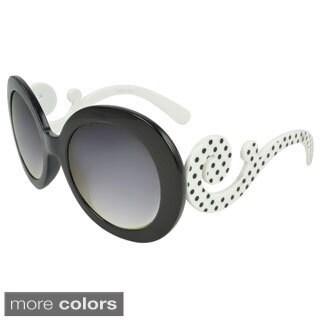 Epic Eyewear 'Rosewood' Round Swirled Arm Sunglasses