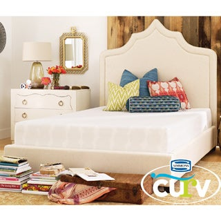 Simmons Curv Lounge Around 10.5-inch Firm California King-size Gel Memory Foam Mattress