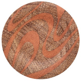 Round with Unique Naturals Materials Charger Wall Art Decor
