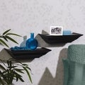 Melannco 12-inch Black Ledge Shelves (Set of 2)