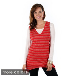 Women's Striped Sharkbite Tank