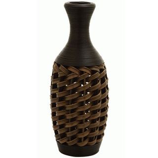 24-inch Brown Woven Vase