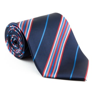 'Boston' Blue and Red Striped Tie