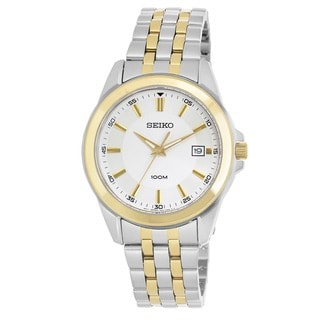 Seiko Men's 'Bracelet' Stainless Steel and Yellow Gold-Plated Japanese Quartz Watch