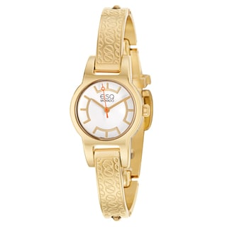 ESQ by Movado Women's 'Nova' Yellow Gold Plated Stainless Steel Swiss Quartz Watch