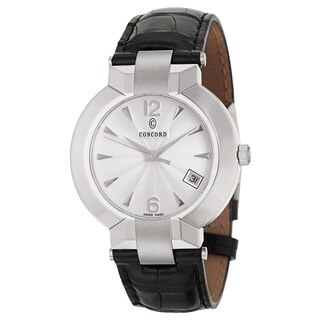 Concord Men's 'La Scala' Stainless Steel Swiss Quartz Watch