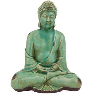 Hand-painted 10-inch Japanese Sitting Buddha Statue (China)