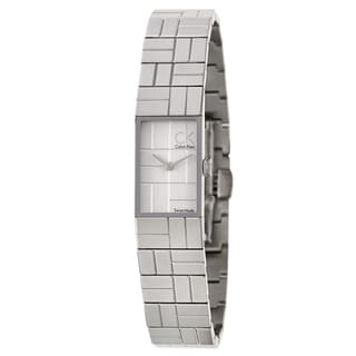 Calvin Klein Women's 'Cobblestone' Stainless Steel Swiss Quartz Watch