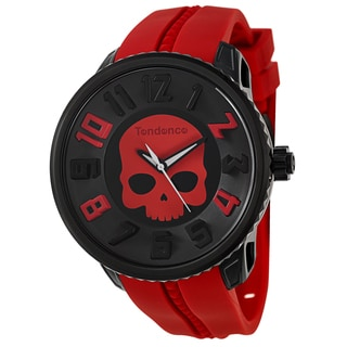 Tendence Men's 'Gulliver Hydrogen' Red Polycarbonate and Stainless Steel Quartz Watch