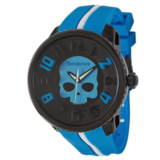 Tendence Men's 'Gulliver Hydrogen' Blue/ White Polycarbonate and Stainless Steel Quartz Watch