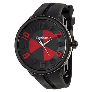 Tendence Men's 'Gulliver Hydrogen' Black/ Red Polycarbonate and Stainless Steel Quartz Watch