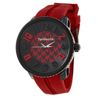 Tendence Men's 'Gulliver Hydrogen' Red/ Black Polycarbonate and Stainless Steel Quartz Watch
