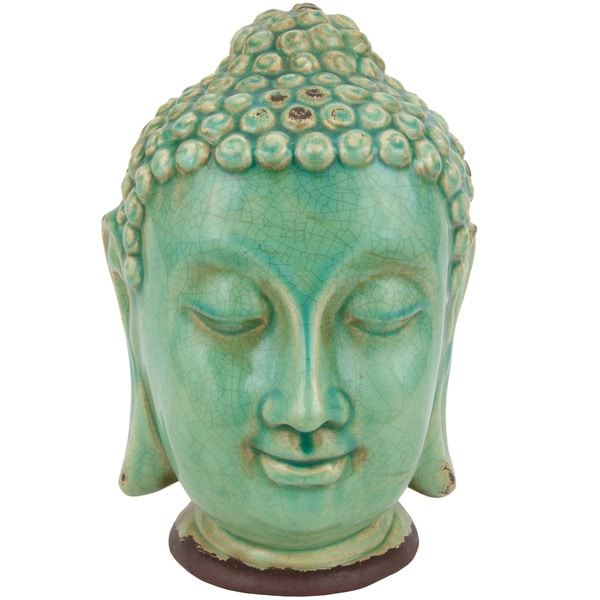 Thai Buddha Head 10-inch Statue (China) 12250470
