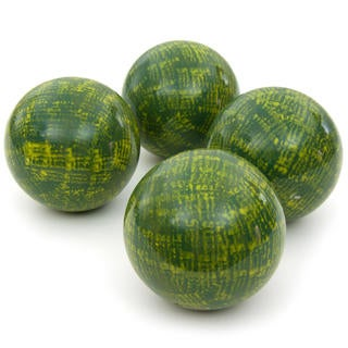 Green 4-inch Porcelain Ball Set (China)