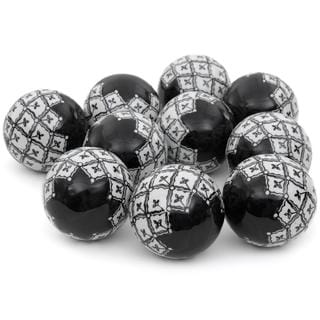 Black and White 3-inch Porcelain Ball Set (China)