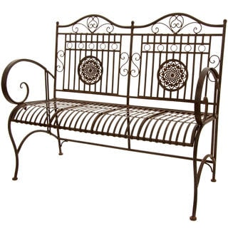 Rust Patina Rustic Metal Garden Bench (China)