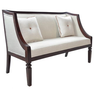 Celine Off-white Chenille Fabric Loveseat