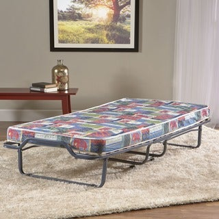 InnerSpace 4-inch Twin Guest Folding Bed with Metal Frame and Reversible Memory Foam Mattress