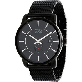ESQ by Movado Men's Capital Ionic Black-Plated Steel Watch