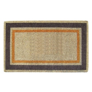 Hand-Woven Heavy-Duty Coir Double Picture Frame Doormat