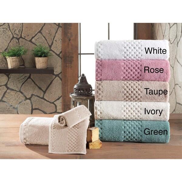 Fairfield Luxury Jacquard Turkish Cotton 3 Piece Towel Set