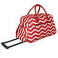 World Traveler ZigZag 22-inch Carry-on Rolling Duffle Bag