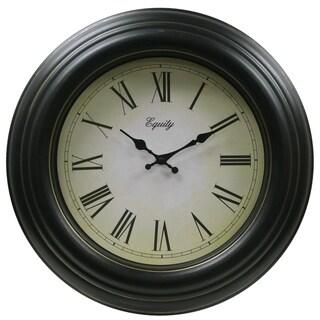 Equity '27233' Black Antique Clock