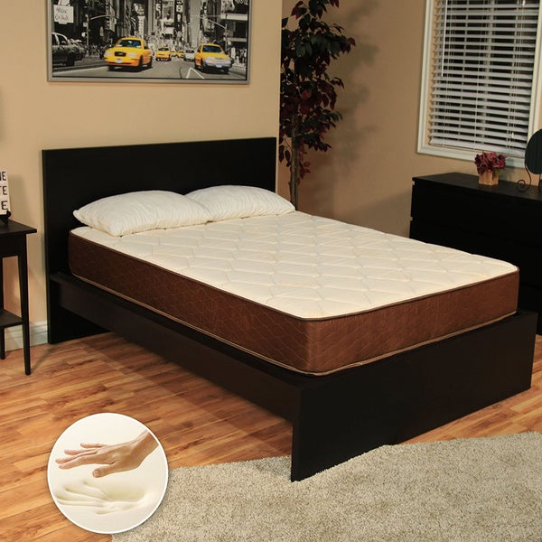 NuForm 9-inch Twin-size Firm Memory Foam Mattress with 2 Bonus Memory Foam Pillows (As Is Item)