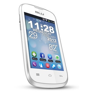 BLU Dash 3.5 D171a GSM Unlocked Dual-SIM White Android Cell Phone