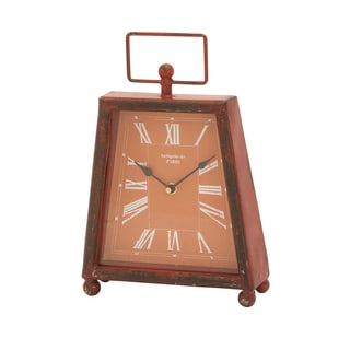 Trendy Metal Clock with Unique Shade of Red Color