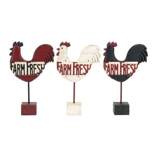Assorted Kitchen Polystone Rooster Farm Fresh Sign