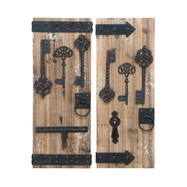 Magical Key Door Wall Plaque Set