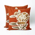 Crochet Leaf 20 inch Decorative Throw Pillow (Set of 2)