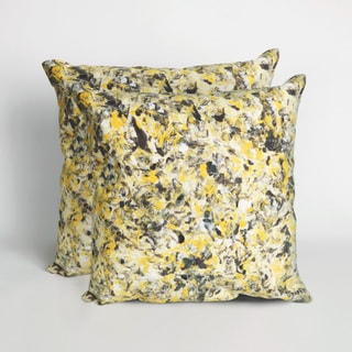 Textures Yellow 20 inch Decorative Throw Pillow (Set of 2)