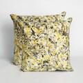 Textures Yellow 20 inch Decorative Throw Pillow (Set of 2)