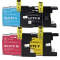 Brother LC79 Remanufactured Compatible Ink Cartridge Set (Pack of 4)