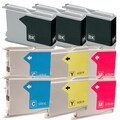 Brother LC51 Remanufactured Compatible Ink Cartridge Set (Pack of 10)