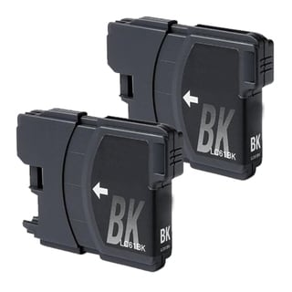 Brother LC61 Remanufactured Compatible Black Ink Cartridge (Pack of 2)