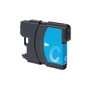 Brother LC61 Remanufactured Compatible Cyan Ink Cartridge