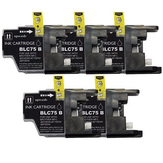 Brother LC75 Compatible Black Ink Cartridge (Remanufactured) (Pack of 5)