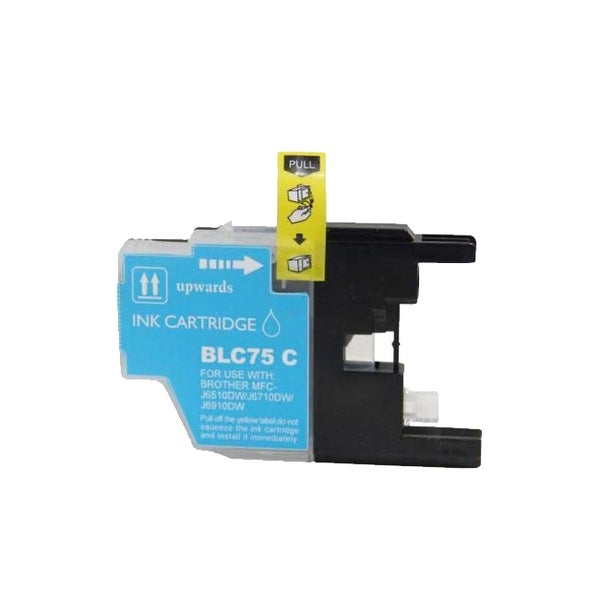 Brother LC75 Remanufactured Compatible Cyan Ink Cartridge