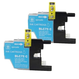 Brother LC75 Remanufactured Compatible Cyan Ink Cartridge (Pack of 2)
