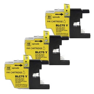 Brother LC75 Yellow Compatible Ink Cartridge (Remanufactured) (Pack of 3)
