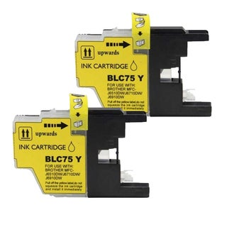 Brother LC75 Yellow Compatible Ink Cartridge (Remanufactured) (Pack of 2)