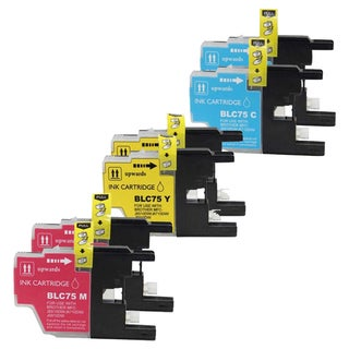 Brother LC75 Cyan, Yellow, Magenta Compatible Ink Cartridge (Remanufactured) (Pack of 6)
