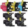 Brother LC75, 2x Black 1x Cyan, Yellow, Magenta Compatible Ink Cartridge Set (Remanufactured) (Pack of 10)